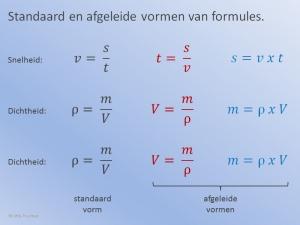 Formules Standaard en Afgeleid