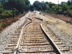 Gebogen Treinrails