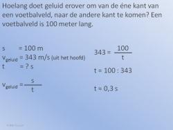 Geluidssnelheid Voorbeeld 1