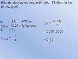 Geluidssnelheid Voorbeeld 2