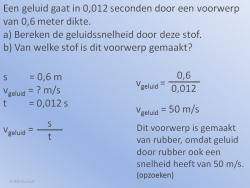 Geluidssnelheid Voorbeeld 3