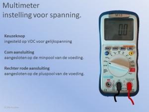 Multimeter Spanning Meten