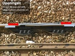 Opening tussen Treinrails