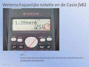 Rekenmachine Wetenschapp. Notatie