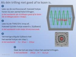 Trillingstijd uit een Oscilloscoop 2