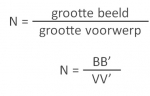 Vergroting Formule