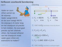 Voorbeeld Berekening Hefboomwet 1